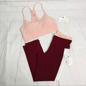 Old Navy Set Crop High Rise + Light Support Bra
